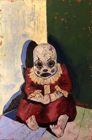 Living room painting by David Schab titled Lonely doll