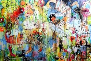 Obraz do salonu artysty Dariusz Grajek pod tytułem Paradise