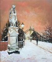 Obraz do salonu artysty Victor Mączyński pod tytułem Most Tumski zimą