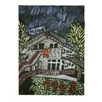 Obraz do salonu artysty Mirosław Śledź pod tytułem Dom w Palinuro