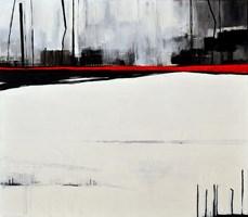 Living room painting by Agnieszka Cyranka-Pytlik titled Horizon