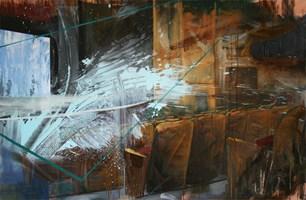Obraz do salonu artysty Cyprian Nocoń pod tytułem Początek spektaklu