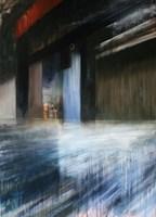 Obraz do salonu artysty Cyprian Nocoń pod tytułem Pod kurtyną