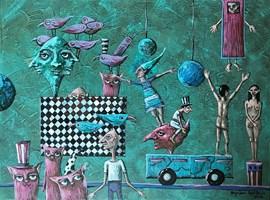 Living room painting by Magdalena Rytel-Skorek titled Untitled