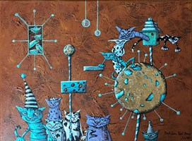 Obraz do salonu artysty Magdalena Rytel-Skorek pod tytułem Bez tytułu