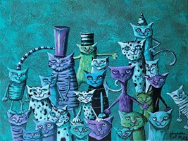 Living room painting by Magdalena Rytel-Skorek titled Halloween