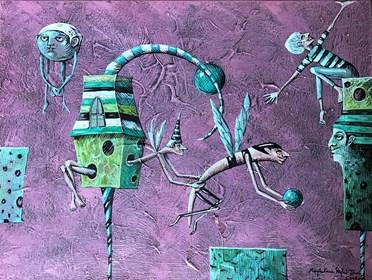 Obraz do salonu artysty Magdalena Rytel-Skorek pod tytułem Prezent