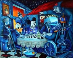 Obraz do salonu artysty Jacek Lipowczan pod tytułem Nocne rozmowy…