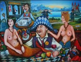 Obraz do salonu artysty Jacek Lipowczan pod tytułem Dolce Vita polityka…