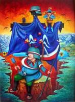 Obraz do salonu artysty Jacek Lipowczan pod tytułem Szlismy, szlismy, az doszlismy