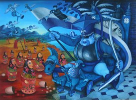 Obraz do salonu artysty Jacek Lipowczan pod tytułem Bladny rycerz
