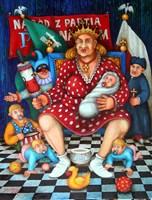 Obraz do salonu artysty Jacek Lipowczan pod tytułem Portret patriotyczny - czyli Matka Polka od Pincet