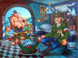 Obraz do salonu artysty Jacek Lipowczan pod tytułem Marzenia weterana