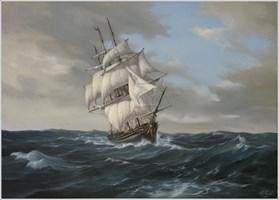 Obraz do salonu artysty Wiesław Król pod tytułem Wiatr we włosach