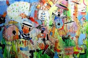 Obraz do salonu artysty Dariusz Grajek pod tytułem Dulcynea i Don Kichot....