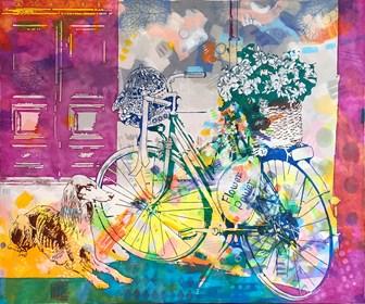 Obraz do salonu artysty Joanna Szumska pod tytułem Jasna strona miasta