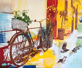 Living room painting by Joanna Szumska titled Noon