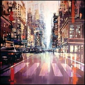 """Obraz do salonu artysty Piotr Zawadzki pod tytułem """"szumy miasta - NYC Tribeca"""""""