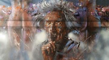 Obraz do salonu artysty Piotr Jakubczak pod tytułem Zuzanny dwie i starzec
