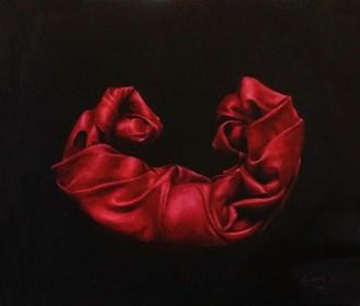 Obraz do salonu artysty Agnieszka Sitko pod tytułem Całuny czerwone I