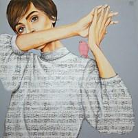 Obraz do salonu artysty Renata Magda pod tytułem Zaklęta w dźwiękach V