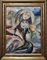 Living room painting by J. Aurelia Sikiewicz-Wojtaszek titled Poetry