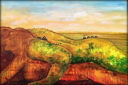 Obraz do salonu artysty Sabina Maria Grzyb pod tytułem Żniwne lato