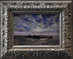 Obraz do salonu artysty Janusz Szpyt pod tytułem Przystań na Chong Khenas