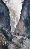 Obraz do salonu artysty Janusz Szpyt pod tytułem Droga na trzy Korony