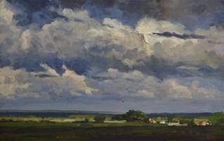 Obraz do salonu artysty Janusz Szpyt pod tytułem Chmury