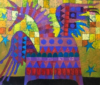 Living room painting by Jan Bonawentura Ostrowski titled Dragon