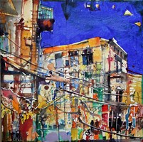 Obraz do salonu artysty Krzysztof Ludwin pod tytułem Z pogodnym niebem