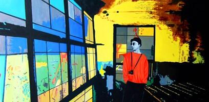Obraz do salonu artysty Magdalena Zalewska (Mlena) pod tytułem Przystań I