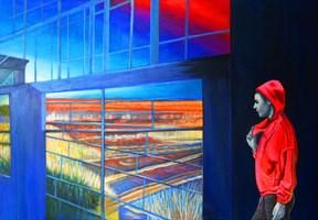 Obraz do salonu artysty Magdalena Zalewska (Mlena) pod tytułem Przystań II
