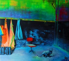 Obraz do salonu artysty Magdalena Zalewska (Mlena) pod tytułem Przystań VI