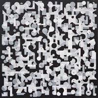 Obraz do salonu artysty Kamil Stańczak pod tytułem Dźwięki II, z cyklu Klocki