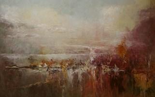 Living room painting by Kazimierz Hamada titled Horizonts