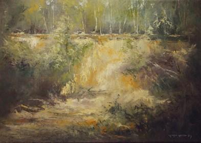 Obraz do salonu artysty Kazimierz Hamada pod tytułem Leśne wyrobisko
