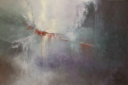 Obraz do salonu artysty Kazimierz Hamada pod tytułem Wnętrza...leśne tajemnice