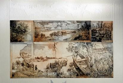 Grafika do salonu artysty Krzysztof Wieczorek pod tytułem Czas teraźniejszy