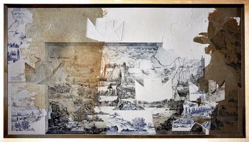 Grafika do salonu artysty Krzysztof Wieczorek pod tytułem Płynąć tam jak najdłużej...how soon is now