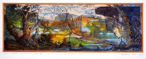 Grafika do salonu artysty Krzysztof Wieczorek pod tytułem Opowieści niderlandzkie II