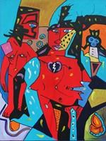 Obraz do salonu artysty Radosław Pytelewski pod tytułem Para Czerwona