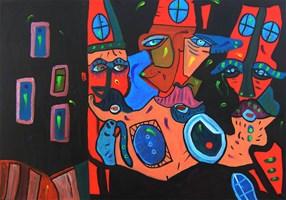 Obraz do salonu artysty Radosław Pytelewski pod tytułem Dziadkowie z dzielnicy