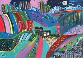 Obraz do salonu artysty Radosław Pytelewski pod tytułem Luksemburg