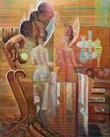 Obraz do salonu artysty Andrzej Wroński pod tytułem Salon piękności