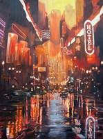 Obraz do salonu artysty Janusz Orzechowski pod tytułem Skyline 2069
