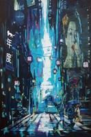 Obraz do salonu artysty Janusz Orzechowski pod tytułem Skyline 2079