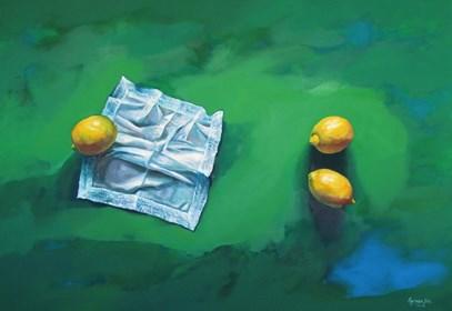 Obraz do salonu artysty Agnieszka Sitko pod tytułem 3 cytryny