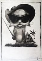 Obraz do salonu artysty Justyna Wojtaś pod tytułem Kicia wojownik